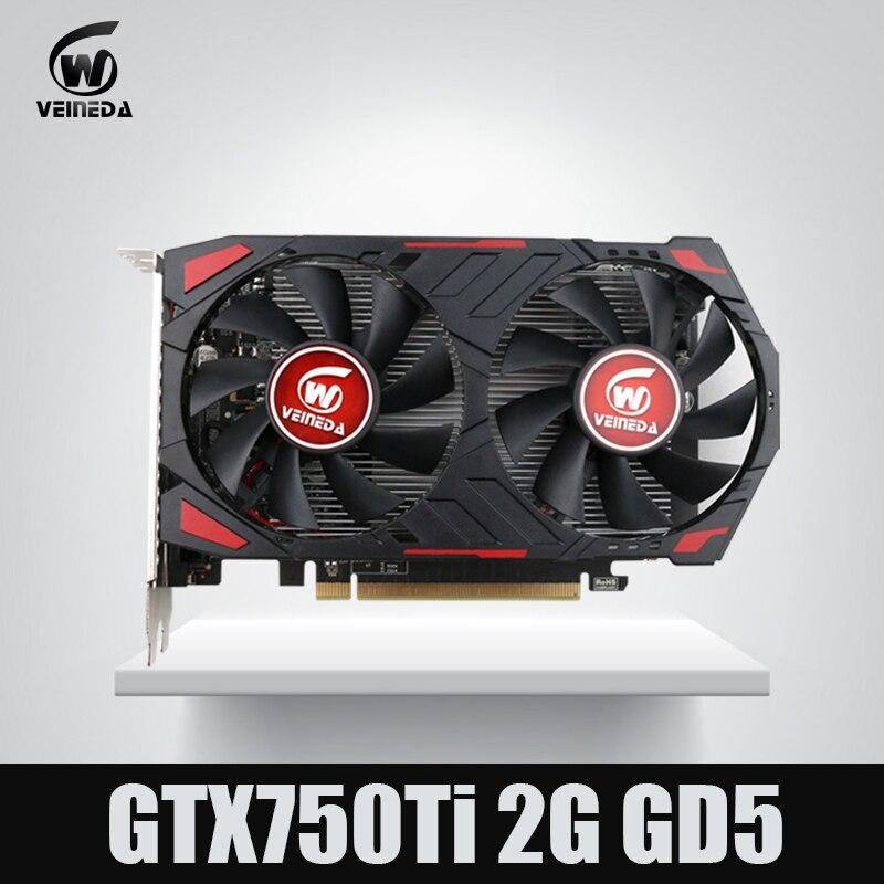 NOVAS GTX 750 Ti 2G VEINEDA GDDR5 Placas Gráficas Para nVIDIA Geforce Placa De Vídeo Do Computador de Jogos