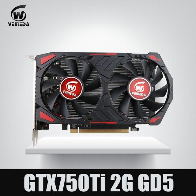 Nouvelle carte graphique pour ordinateur GTX 750 Ti 2G VEINEDA GDDR5 pour jeux nVIDIA Geforce