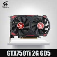 Nuevo GTX 750 Ti 2G veinedda tarjeta de vídeo de ordenador GDDR5 tarjetas gráficas para nVIDIA Geforce Games