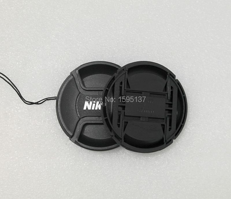 49 52 55 58 62 67 72 77 82 Mm Center Pinch Snap-on Cap Cover For NIKON Lens Cap