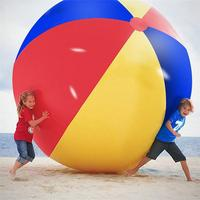 Inflatable Beach Ball Large Three Color Thickened Pvc Entertainment Volleyball Decorative Toy