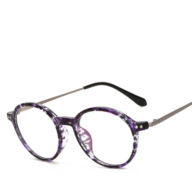 Round Glasses Anti Blue Light Fashion Spectacles Frames