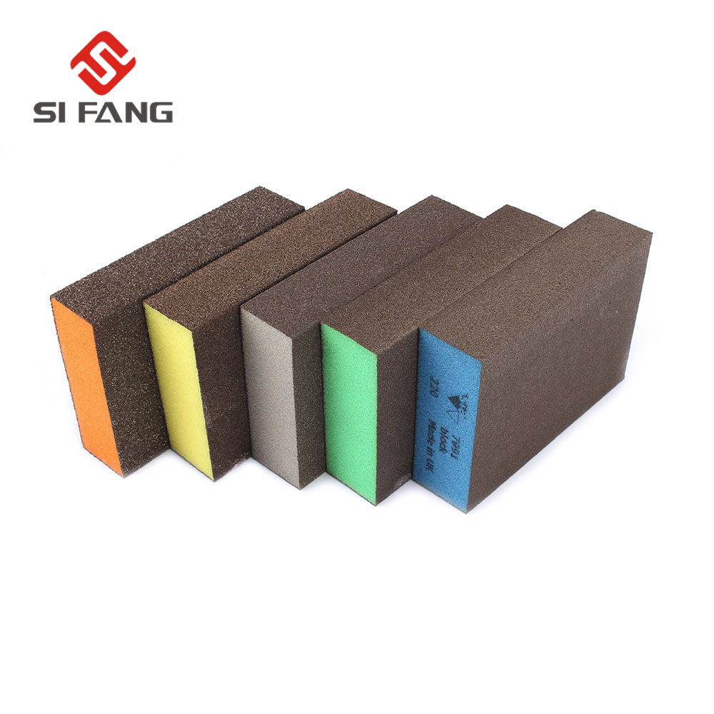 10pcs  Sanding Block Girt Sponge Polishing Pad Furniture Buffing Sandpaper Tools Sandpaper Assorted Grit 60 80 120 180 220