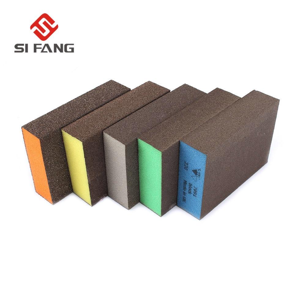 10pcs  Sanding Block Girt Sponge Polishing Pad Furniture Buffing Sandpaper Tools Sandpaper Assorted Grit 60 80 120 180 220