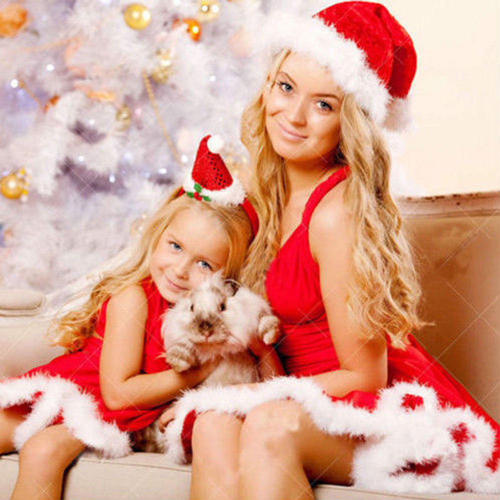 4682b6bfdaea Sexy Santa Outfit Womens Ladies Miss Claus Costume Christmas Party ...