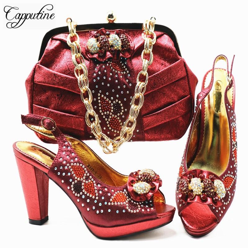 Africana Calidad En Y Moda Elegante Zapatos púrpura Rojo Bombas De Alta  Blue Fiesta Stock Capputine verde plata Mujer ... fcade9972214