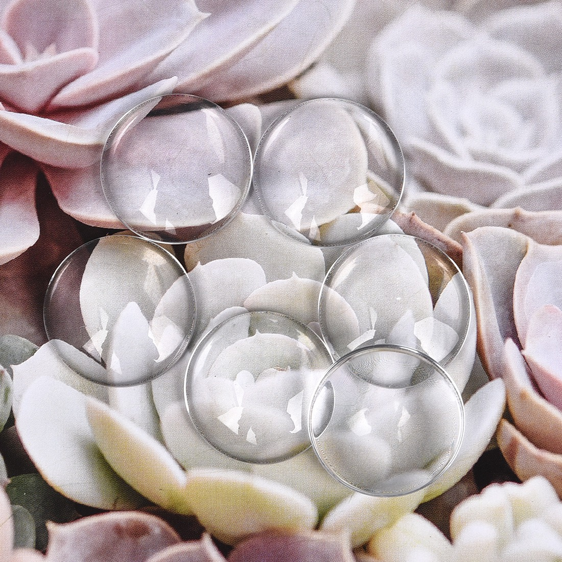 LIEBE ENGEL 10PCS 10mm 12mm 14mm 16mm 18mm 20mm 25mm Cabochon Clear Glass Transparent Cover DIY Jewelry Components & Findings