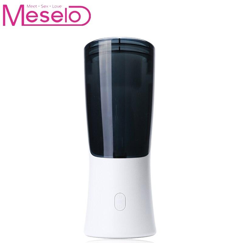 Meselo Intelligent Suck Male Masturbator Cup Electric Telescopic Penis Trainer Realistic Vagina font b Pussy b