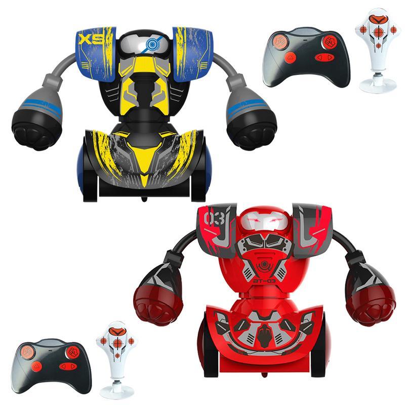 Combat de boxe Combats Double Jouer Robot Enfants Intelligente Télécommande Garçon Jouet RC Bataille De Boxe Robot/Jouets