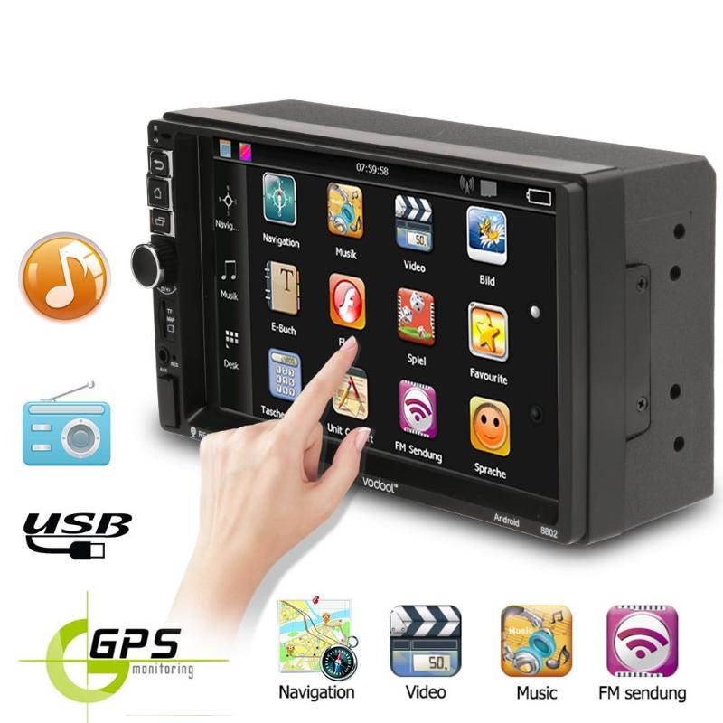 Mp4 Player Kamera Kompetent Vodool 7 Zoll Tft Touch Screen 2 Din Quad-core Android 7.1 Bluetooth Auto Gps Navigator Mp5 Player