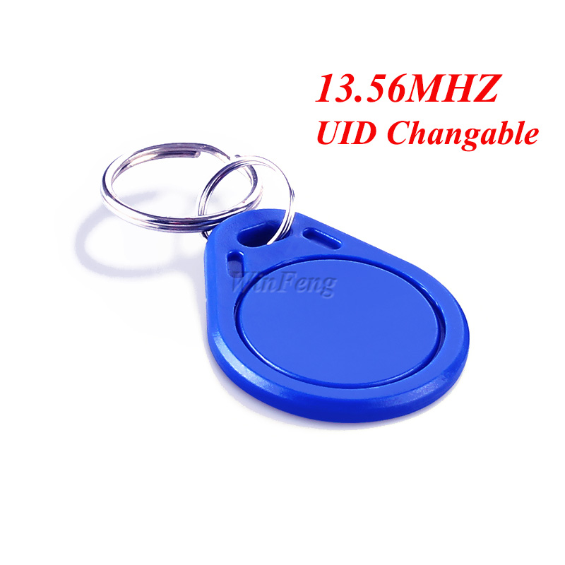 1Pcs Proximity 13.56MHZ UID Changable RFID Keyfob ABS Writable Rewrite Copy RFID Tag Token Keychain For Access Control System