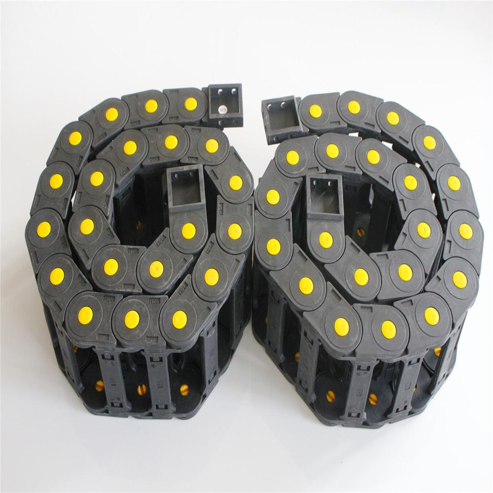 2PCS R55 25 x 50mm 25 x 77mm 25 x 57mm 1M Black Plastic Enhanced Full-Closed/Bridge-type Drag Chain Cable Carrier2PCS R55 25 x 50mm 25 x 77mm 25 x 57mm 1M Black Plastic Enhanced Full-Closed/Bridge-type Drag Chain Cable Carrier