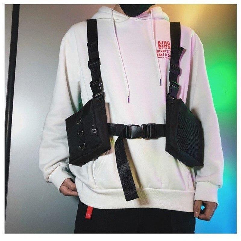 Fashion Chest Rig For Men Waist Bag ins Streetwear Functional walkia Tactical Hip Hop Shoulder bag Crossbody Bags Men Canvas Bag zwbra shower curtain