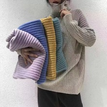 sexy turtleneck sweater feminino womens autumn and winter long loose thick pullover demen women 8nov26t2
