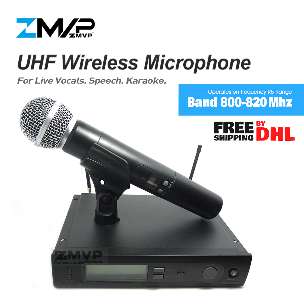 ZMVP SLX24 M58 UHF Professional Wireless Microphone System With 58 Handheld Transmitter For Stage Live Vocals
