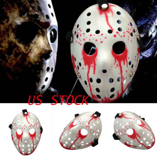 Halloween Costume Jason Friday 13th.Jason Voorhees Scary Mask Friday The 13th Horror Movie Hockey Halloween Costume