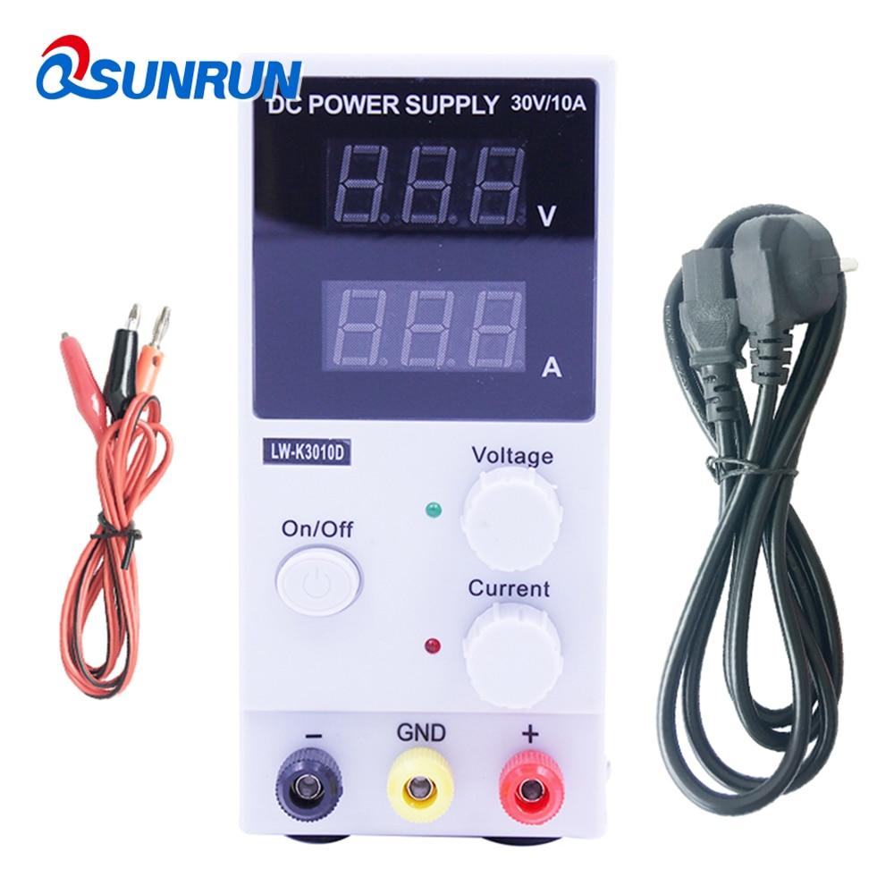 Qsunrun 30V 10A LED Display Adjustable Switching Regulator DC Power Supply LW K3010D Laptop Repair Rework