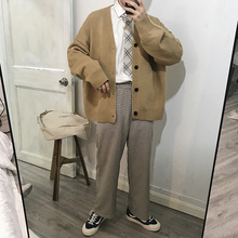 Mens Sweater 2019 Spring New Fashion Urban Men And Women Loose Cardigan Knit Thin Coat Casual Clothing