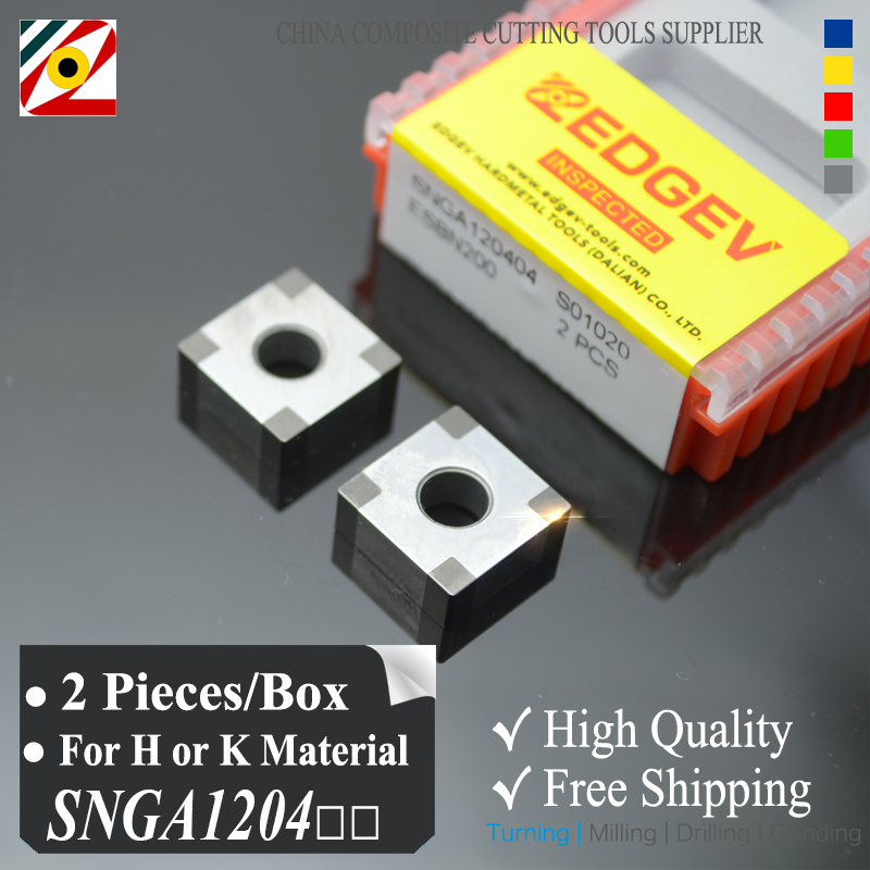 EDGEV 2 stuks kubisch boornitride CBN-inzet SNGA120404 SNGA120408 of SNGA431 SNMG432 voor het snijden van gehard staal of gietijzer