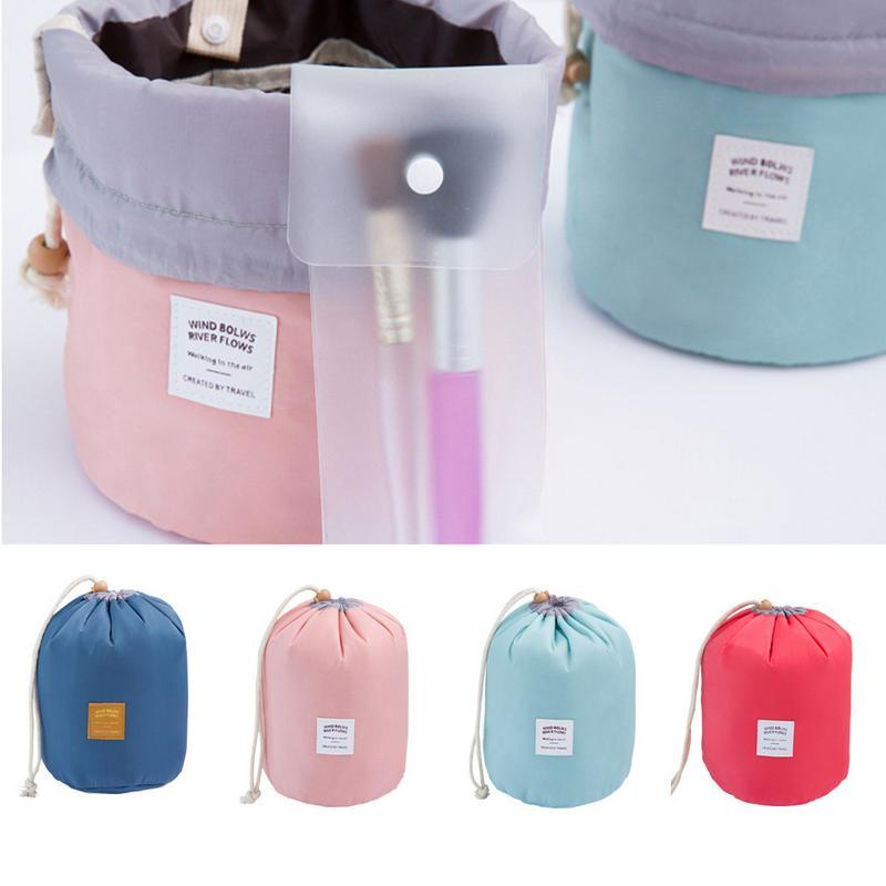 Round Bucket Travel Large Capacity Storage Bag Ladies Cosmetic Bag Travel Set Wash Bag Outdoor Waterproof Wash Bag