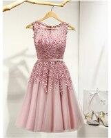 2019 хит продаж, элегантные платья до колена для женщин и девочек, Аппликация из бисера, вечерние платья розового, красного, светло-синего цвет...