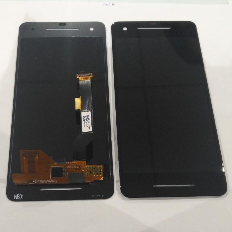 Azqqlbw Original For HTC Google Pixel 2  Google Pixel 2 XL LCD Display Touch Screen Digitizer Assembly For HTC Google Pixel 2LCD