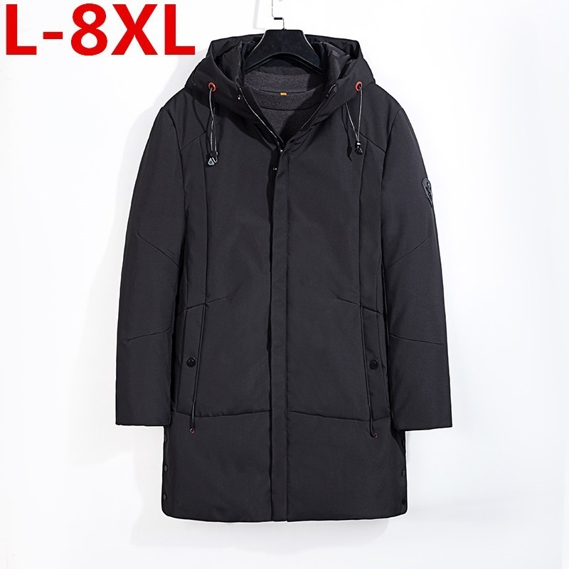 Grande taille 8XL 7XL 6XL 5XL 4XL épaissir chaud hiver canard doudoune pour hommes Parkas à capuche manteau grande taille pardessus Style occidental
