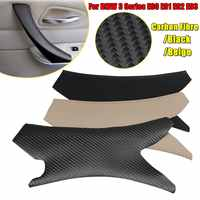 Carbon Texture Car Interior Door Handle Cover Hand Sewing Door Panel Pull Trim For BMW 3 Series E90 E91 E92 E93 2005 06 07-2012