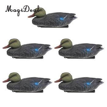 MagiDeal 5 Pieces Floating Mallard Duck Decoy Hunting Decoys Garden Yard Ornaments Hunting Decoy for Oudoor Camping Access hunting gadwall duck decoy electric flying duck motorized duck decoy with remote control