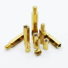 10/50pcs Solid Brass Copper M2 M2.5 M3 M4 Hex Standoff Hexagon Support Pillar Column Male-Female Female Spacer For PCB Board