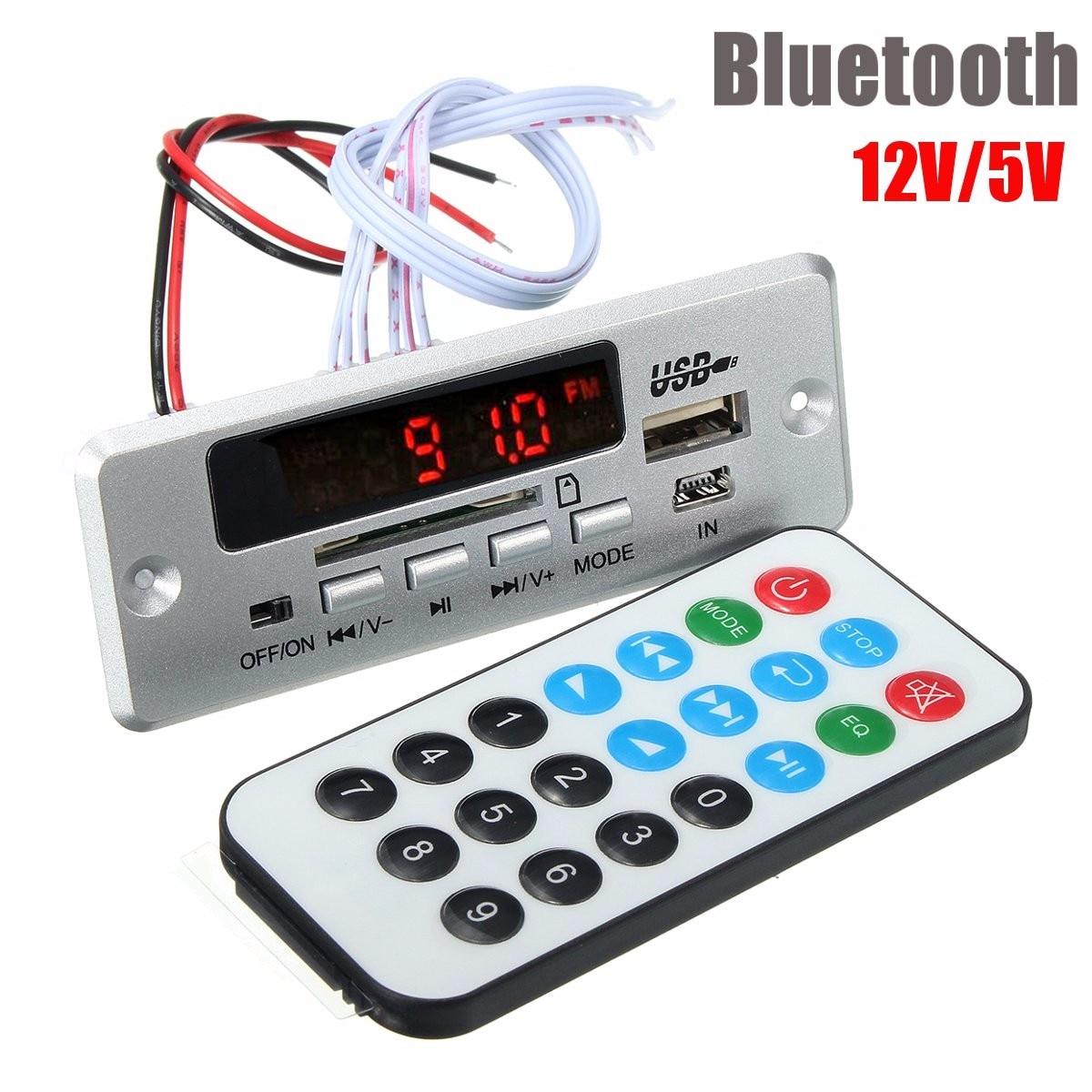Unterhaltungselektronik Neue Ankunft Universal Auto Led Usb Aux Fm Bluetooth Mp3 Decode Bord Radio Verstärker Remote Digital-analog-konverter Dc12v /5 V