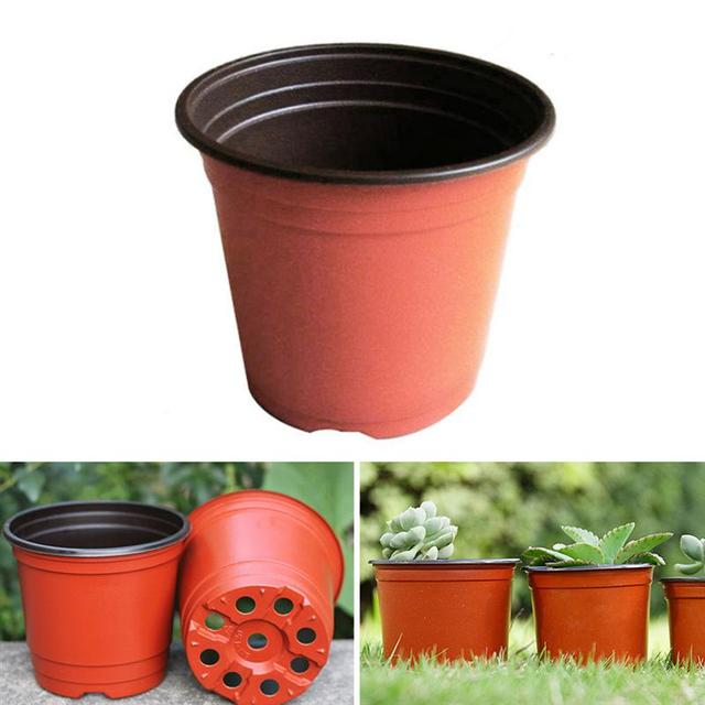 3/10PCS Plant Flower Pots Plastic Starting Two-Tone Universal Soft Flowers Nursery Seeds Storage Pot Container Garden Decoration