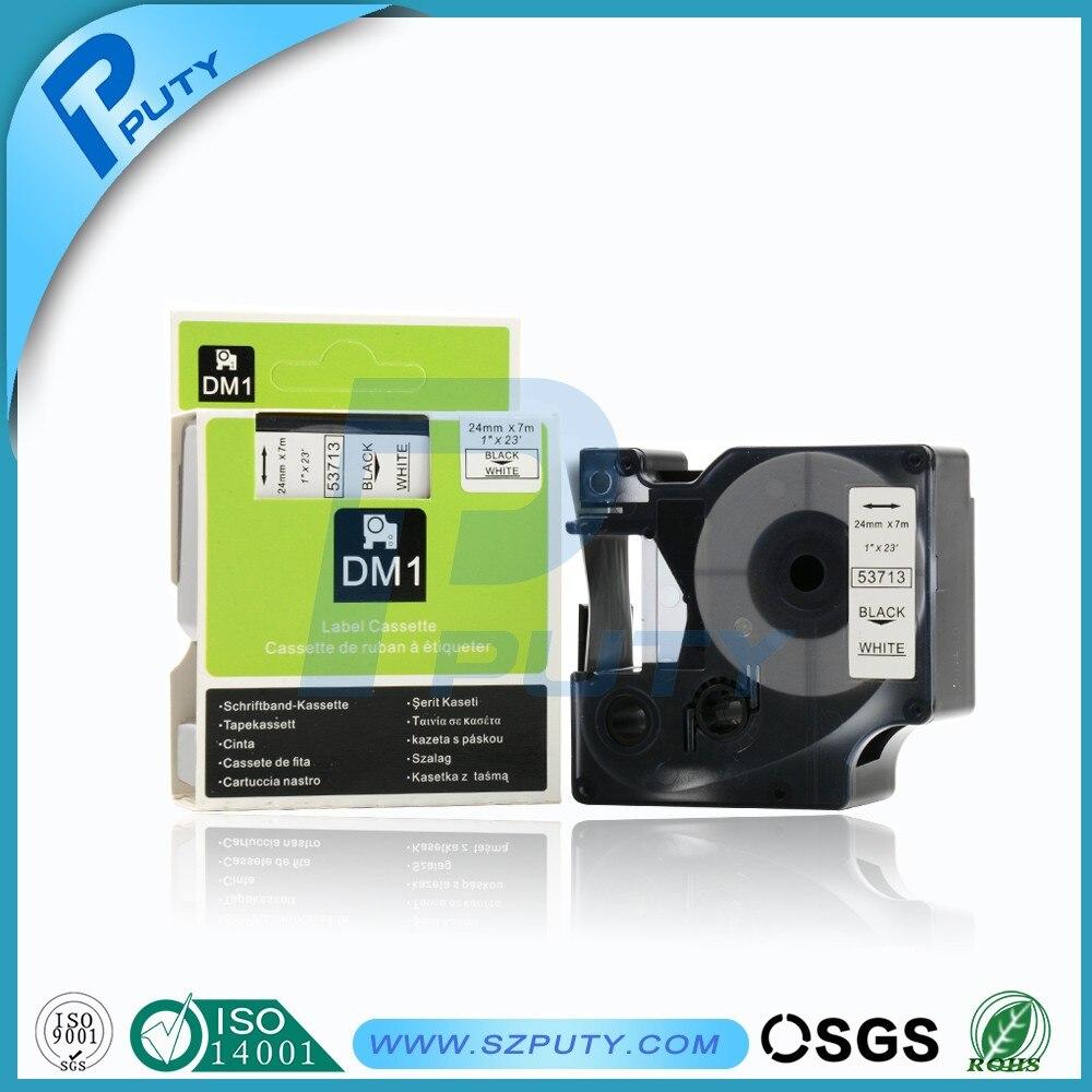 12mm x 7m Schriftband Kassette Drucker Band Für Dymo D1 45013 Schwarz auf Weiß