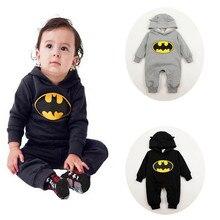 New Born Baby Clothes Romper Batman Jumpsuit Cloth Outfits B