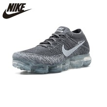 NIKE Air Vapor Max Flyknit Original Comfortable Mens Running Shoes Stability Lightweight Sneakers Shoes# 849558-002
