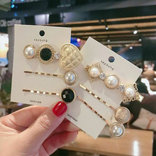 3PCS Ladies Girl Elegant Pearl Crystal Hair Clip Side Snap Barrette Bobby Hairpins Women Fashion Headwear Lovely Gifts New 2019