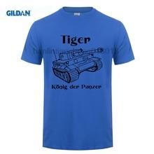 GILDAN Men T Shirt 2018 Summer 100% Cotton Casual Short Sleeve Tops Tee Panzer Tiger Tank Wehrmacht Germany O-Neck