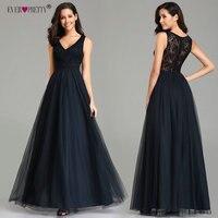 539c40319 Elegante azul marino vestidos De noche largo bonito EZ07644NB Sexy barato  a-línea sin mangas