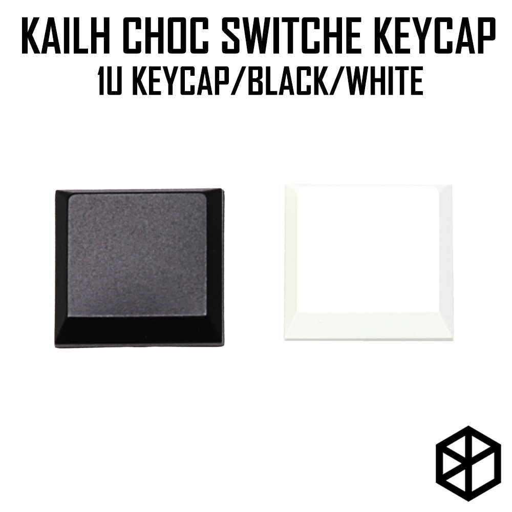 Kailh choc low profile 1u blank keycap สำหรับ kailh low profile swtich abs ultra บาง keycap สำหรับ low profile สีขาวสีดำ