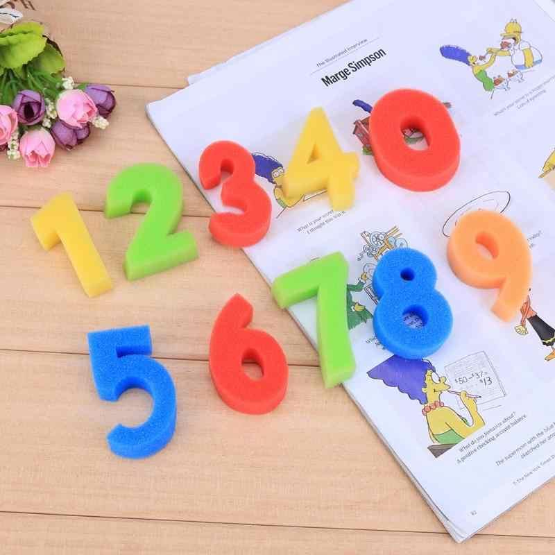 10 piezas DIY Graffiti esponja número sello dibujo juguetes Set juguete educativo chico