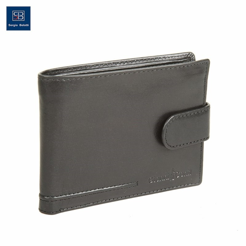 Coin Purse Gianni Conti 707461 black simline vintage genuine crazy horse cow leather men men s long hasp wallet wallets purse zipper coin pocket holder with chain
