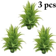 3PCS Simulation Exquisite Artificial Leaves Decorative Lifelike Green Pineapple Fake Plants Desk Decoration Supplies