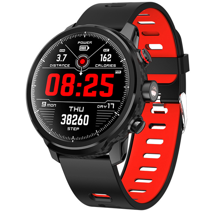 LE6 Smart Watch IP68 Waterproof 1.3 Inch heart rate track Full-Fit Full-Circle Screen Sports Smart Watch for men