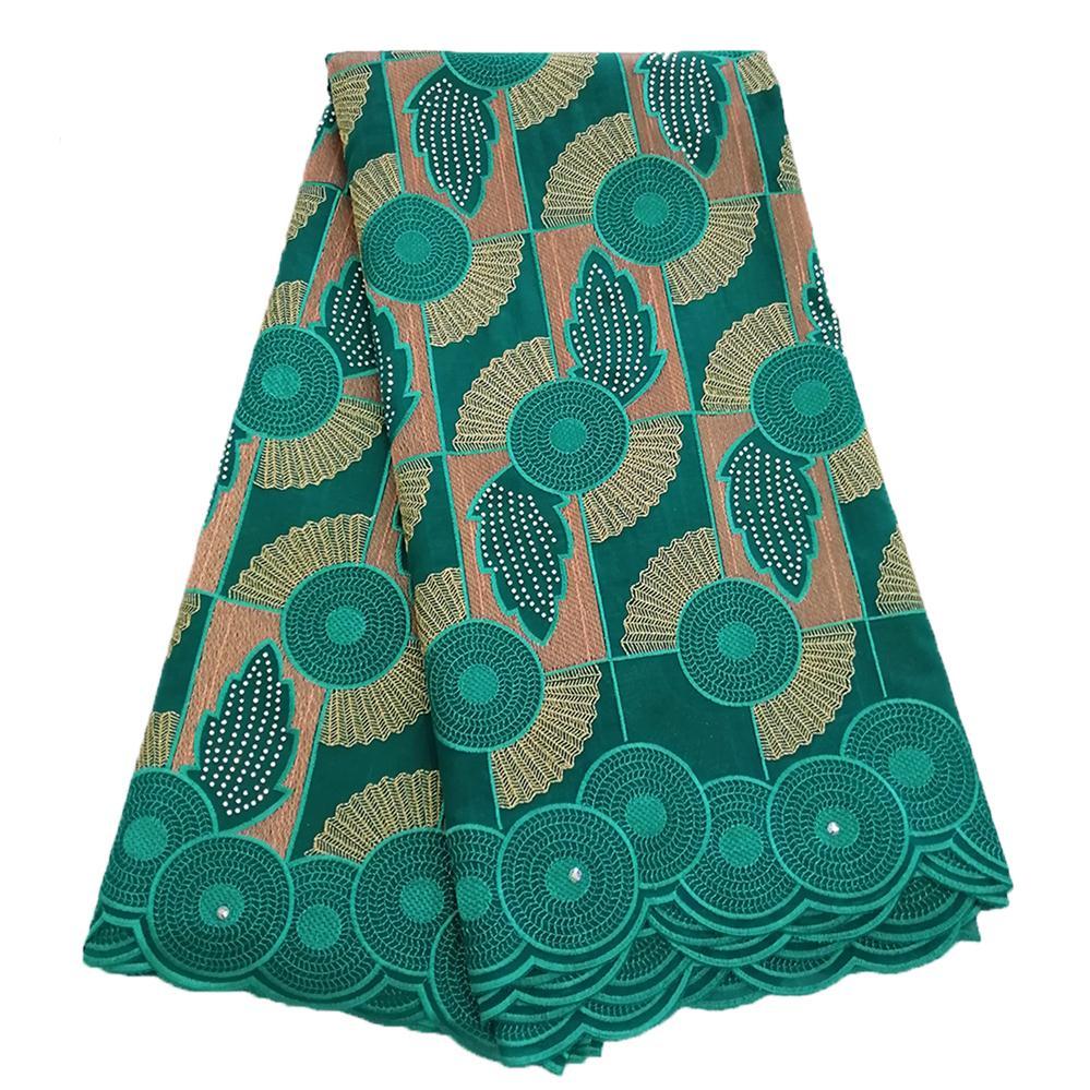 Tissu africain en dentelle sèche de haute qualité pour femmes dentelle de coton tissu nigérian en dentelle avec pierres dentelle de Voile suisse en suisse