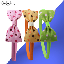Hot! 3pcs=1lot Bow Dot headband High quality decoration hair band Fashion Girl accessories Headbands for sale