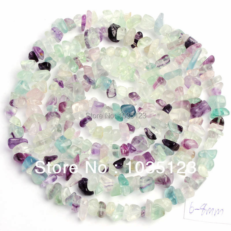 Beads-Strand Freeform Mixed-Fluorite W367 Jewelry-Making Loose Natural 5-8mm 34-Gems