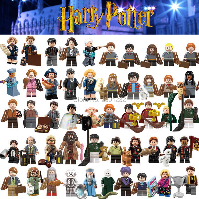 For Harri potter Figures Dobby Beasts Rubeus Dobby Hagrid Seamus Ron Snape Finnigan Hermione Bricks Model building Blocks Toys(China)