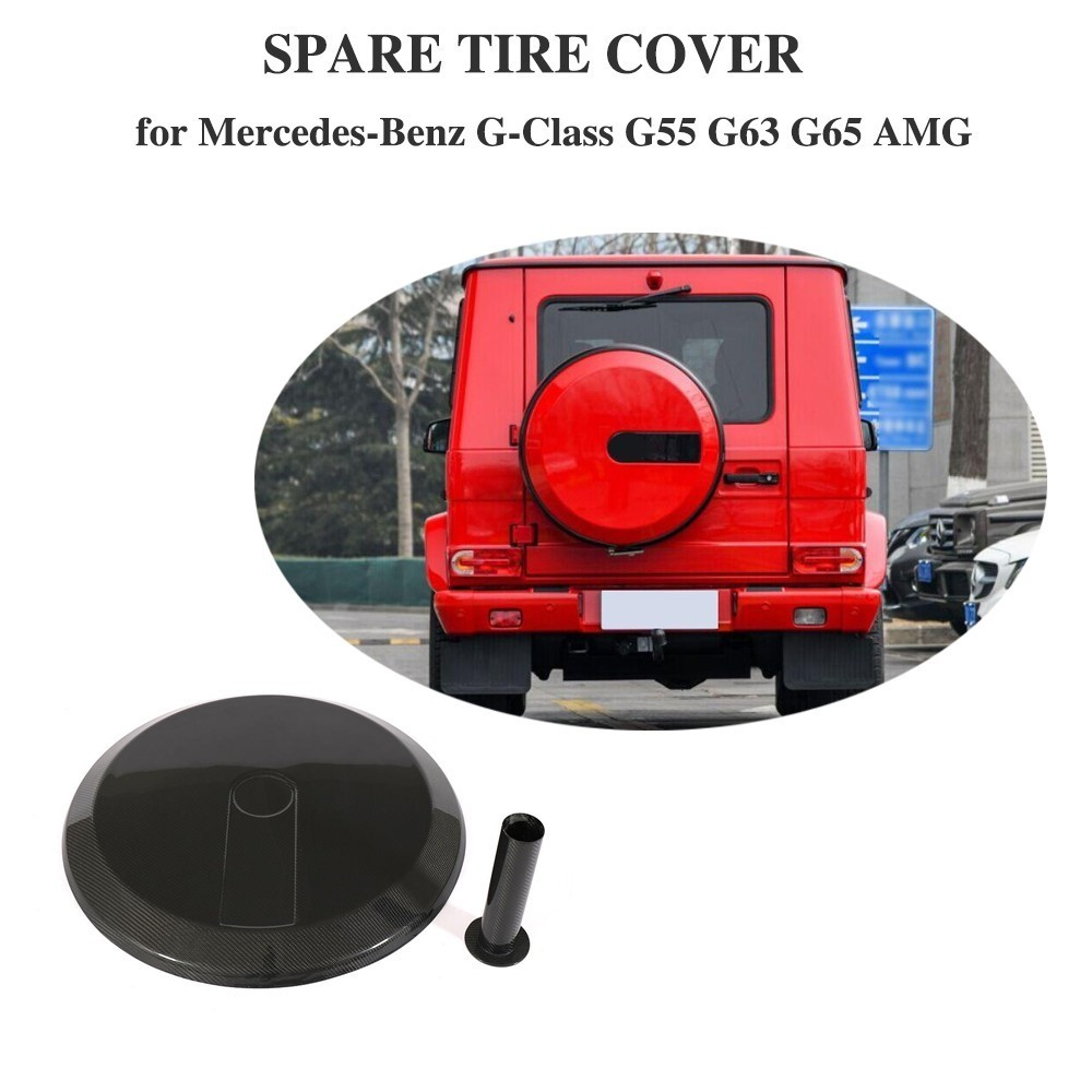 Car Spare Tire Cover for Mercedes Benz W463 G55 G65 G63 BODY KIT 08 14 G Class G500 Carbon Fiber