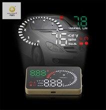 XUNMA марка автомобиля HUD Дисплей OBD2 II EUOBD Overspeed Предупреждение Системы проектор для ветрового стекла автоматический электронный Напряжение сигнализации