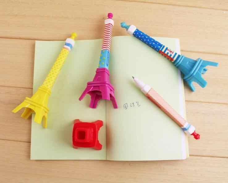 Ell brook 1 peça torre eiffel estilo azul esferográfica caneta material escolar criativo papelaria freebie romance escritório presente chancery